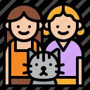 cat, couple, lesbian, lover