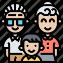 grandson, grandparents, elderly, family, ancestor