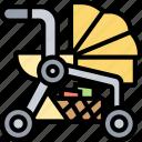 stroller, baby, carriage, pram, cart