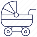 baby, pram, carriage, buggy icon