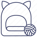 cattery, cave, bed, cat icon