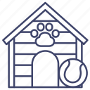 kennel, doghouse, dog, house icon