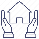 protection, insurance, home, house icon