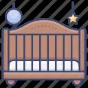 baby, child, bed, crib