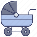 buggy, carriage, baby, pram icon