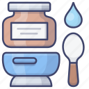 preserves, baby, food, spoon icon