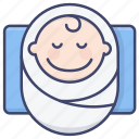 newborn, infant, baby, child icon