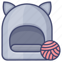cave, cattery, cat, bed icon