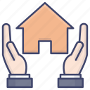 protection, home, house, insurance icon