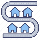street, neighborhood, community, neighbor icon