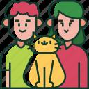 love, family, cat, pet, parents, happy, couple