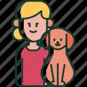 love, family, pet, girl, child, dog, kid