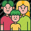 family, parents, love, happy, home, child, kid icon
