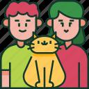 family, pet, love, parents, happy, couple, cat