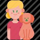 family, girl, pet, child, dog, kid, love