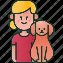 family, child, pet, girl, kid, love, dog