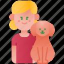 pet, love, girl, family, child, dog, kid