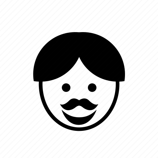 avatar, face, man, moustache, mustache, people, person icon