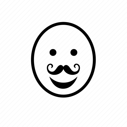 avatar, bald, face, man, moustache, mustache icon