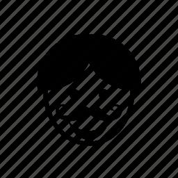 avatar, face, man, moustache, mustache, people, person icon