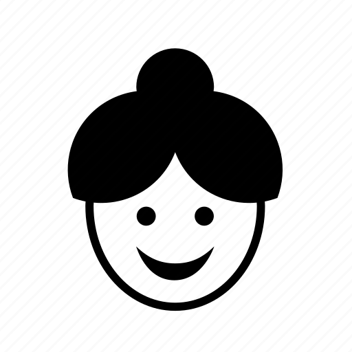 avatar, bun, chignon, face, grandmother, old, woman icon