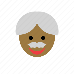 avatar, black, color, face, grandfather, man, old icon