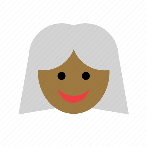 avatar, black, color, face, grandma, grandmother, woman icon