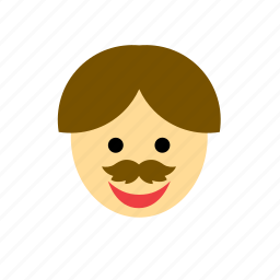 face, man, moustache, mustache, people icon