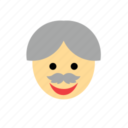 face, grandfather, grandpa, greybeard, man, old, people icon