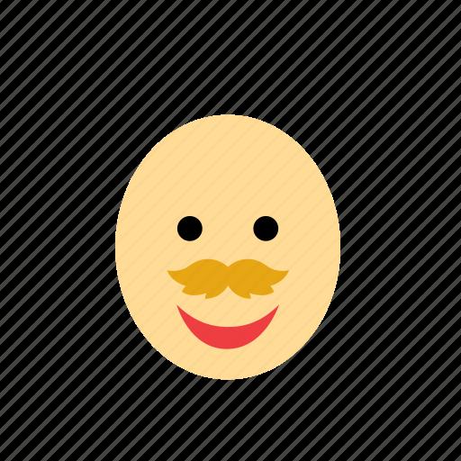 bald, blond, face, man, moustache, mustache, people icon