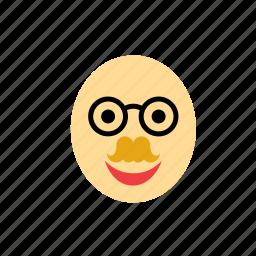 avatar, blond, face, glasses, man, moustache, mustache icon
