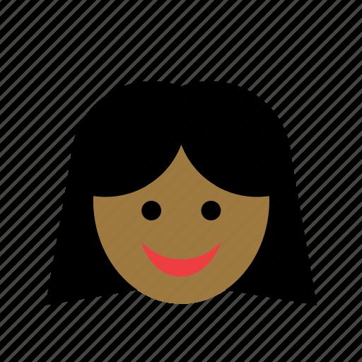 avatar, black, color, face, girl, man, woman icon