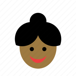 avatar, black, color, face, people, person, woman icon