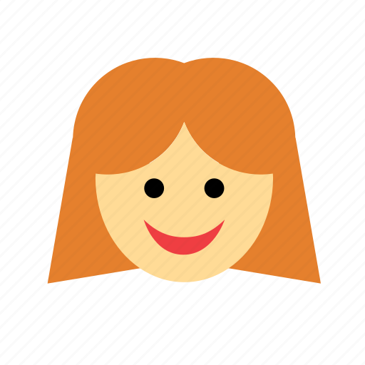 avatar, face, ginger, girl, people, redhead, woman icon
