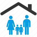 children, estate, family, father, home, morther icon