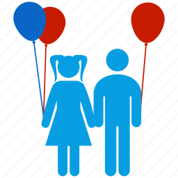 balloon, brother, children, family, friend, kids, toy icon