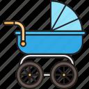 baby, newborn, push, stroller