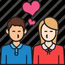 girlfriend, man, couple, boyfriend, woman, hearts, kiss icon