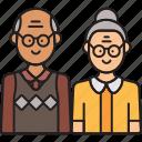 grandad, grandfather, grandmother, grandparents, granny icon