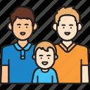 boy, child, family, fathers, gay, men, same sex icon