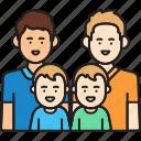 boys, family, fathers, gay, man, same sex icon