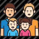 boy, family, fathers, gay, girl, man, same sex icon