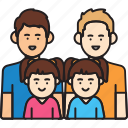family, fathers, gay, girl, man, same sex, twins icon