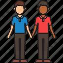 boyfriends, couple, gay, hands, holding, men