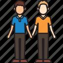 boyfriends, couple, hands, holding, men, mixed