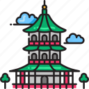 pagoda, architecture, buddhism, buddhist, religious, synagogue, temple icon