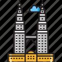 klcc, kuala lumpur, malaysia, petronas towers, petronas twin towers, suria klcc, twin towers icon