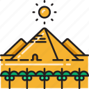 ancient, egypt, egyptian, landmark, pyramid icon