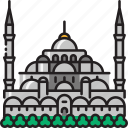 mosque, islamic, istanbul, ottoman, sultan ahmed mosque, sultan ahmet mosque, turkey