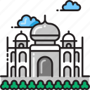 architecture, india, landmark, palace, taj mahal icon